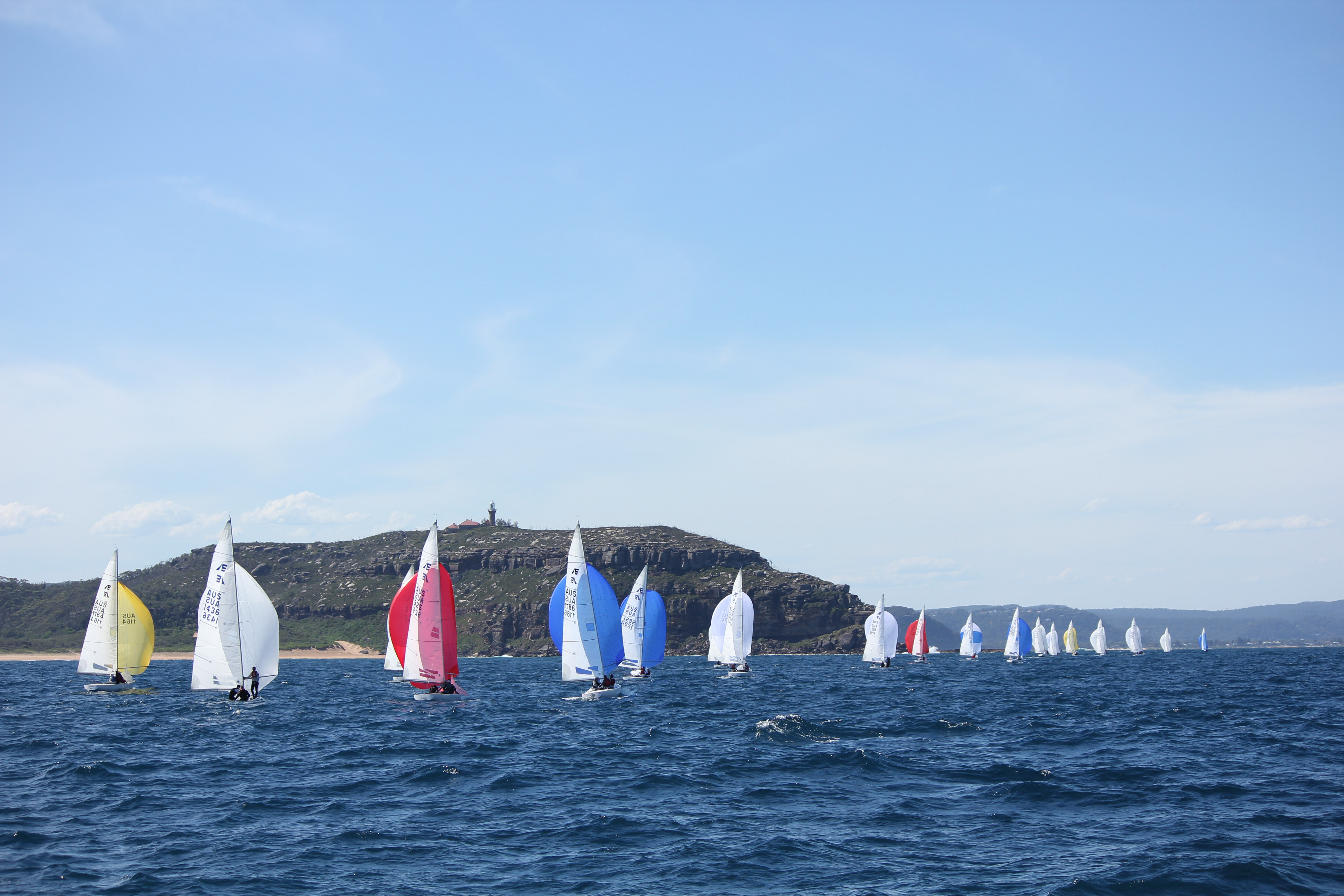Etchells racing off the Palm Beach