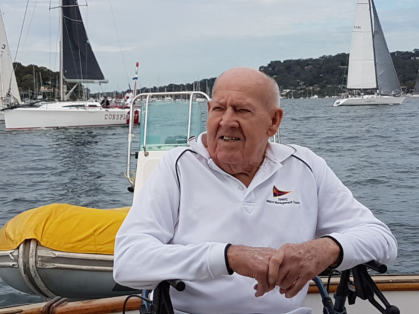 Jake Gale back on board Alfred's 1 for the 2017 Old Timers Race