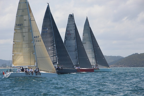 The start of the Club Marine Pittwater to Paradise Regatta
